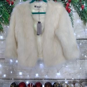 NWT Jennifer Lopez Faux Fur Coat